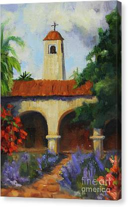 Mission San Juan Capistrano Canvas Print by Maria Hunt