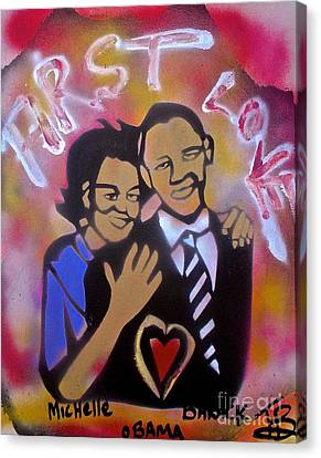 Obama First Love... Canvas Print by Tony B Conscious