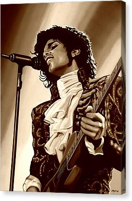 Prince The Artist Canvas Print by Paul Meijering