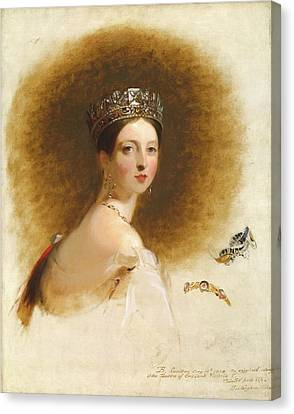 Queen Victoria Canvas Print by Thomas Sully