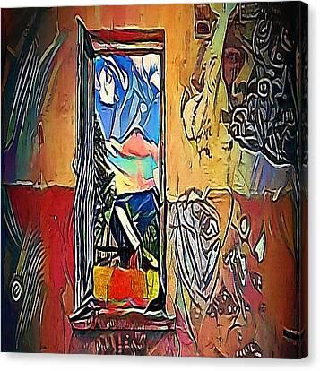 Red Window - My Www Vikinek-art.com Canvas Print by Viktor Lebeda