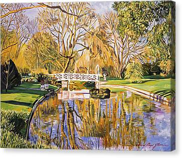 Reflections Of The White Bridge Canvas Print by David Lloyd Glover
