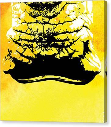 Rhino Animal Decorative Wall Poster  42 Canvas Print by Diana Van