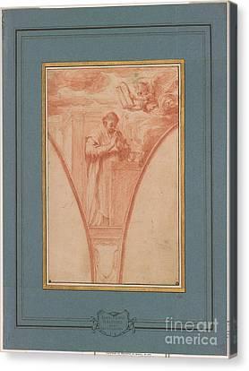 Saint At Prayer Canvas Print by Giovanni Francesco