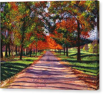 September Country Song Canvas Print by David Lloyd Glover
