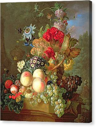 Still Life With Auriculus  Canvas Print by Gerrit Van Leeuwen