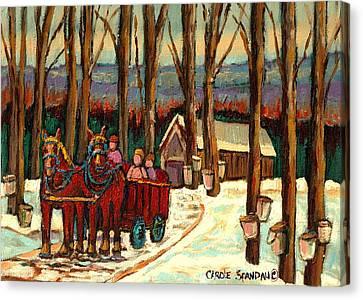 Sugar Shack Canvas Print by Carole Spandau
