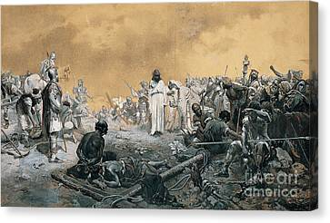 The Arrival At Calvary Canvas Print by Celestial Images