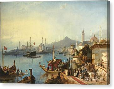 The Arrival Of Sultan Abdulmecid At The Nusretiye Mosque Canvas Print by Celestial Images
