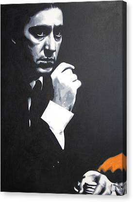 - The Godfather - Canvas Print by Luis Ludzska