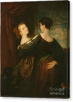 The Sisters Canvas Print by Washington Allston