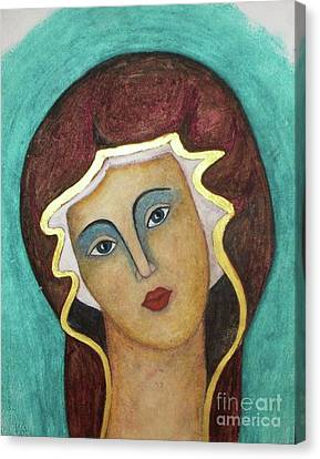 Virgin Mary Canvas Print by Vesna Antic