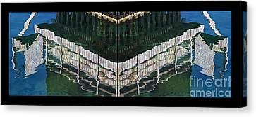 Water Reflection Twofold Canvas Print by Heiko Koehrer-Wagner