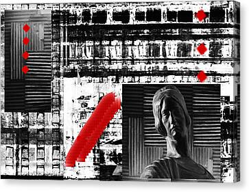 Where In The Riddle The Answer Hides And Red Canvas Print by Danica Radman