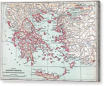 Map: Ancient Greece Canvas Print by Granger