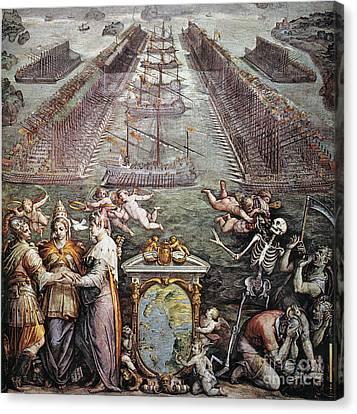 Battle Of Lepanto, 1571 Canvas Print by Granger