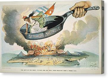 Spanish-american War, 1898 Canvas Print by Granger