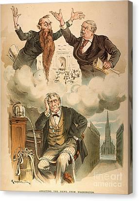 Cartoon: Panic Of 1893 Canvas Print by Granger