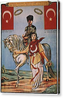 Republic Of Turkey: Poster Canvas Print by Granger