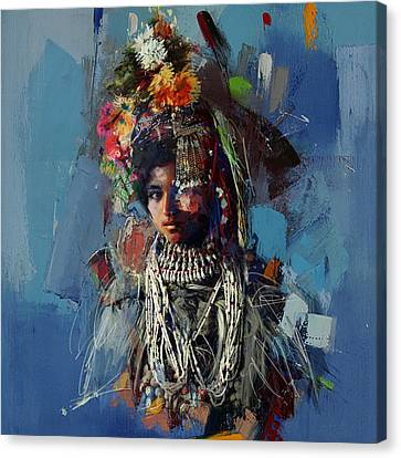 009 Kazakhstan Culture Canvas Print by Maryam Mughal
