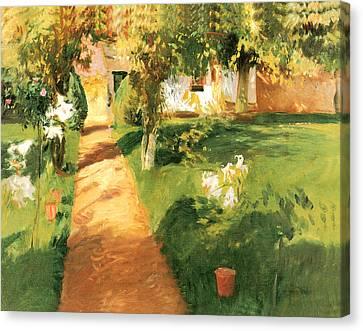 Millets Garden Canvas Print by John Singer Sargent