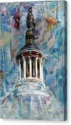063 United States Capitol Dome Canvas Print by Maryam Mughal