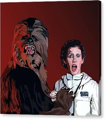 070. Naughty Wookie Canvas Print by Tam Hazlewood