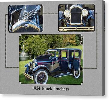 1924 Buick Duchess Antique Vintage Photograph Fine Art Prints 120    Canvas Print by M K  Miller