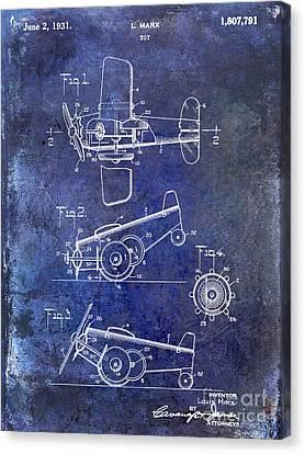 1931 Toy Airplane Patent Canvas Print by Jon Neidert