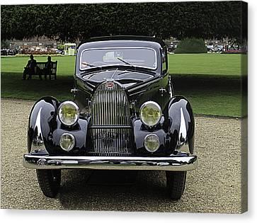 1936 Bugatti T57 Paul Nee Pillarless Coupe  Canvas Print by Peter Lloyd