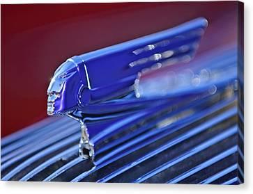 1936 Pontiac Hood Ornament 4 Canvas Print by Jill Reger