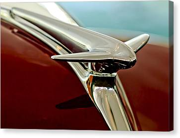1938 Lincoln Zephyr Hood Ornament Canvas Print by Jill Reger