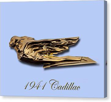 1941 Cadillac Mascot Canvas Print by Jack Pumphrey
