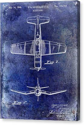 1946 Airplane Patent Canvas Print by Jon Neidert