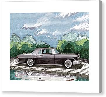 1956  Lincoln Continental Mk II Canvas Print by Jack Pumphrey