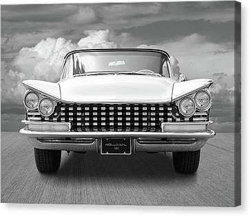 1959 Buick Grille And Headlights Canvas Print by Gill Billington