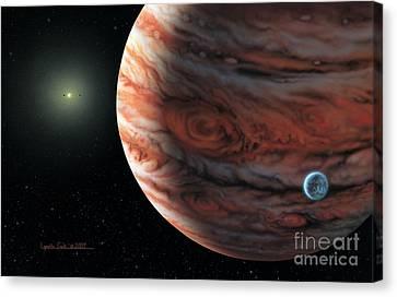 55 Cancri 2007 Canvas Print by Lynette Cook