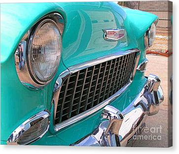 55 Chevy Canvas Print by Larry Matthews