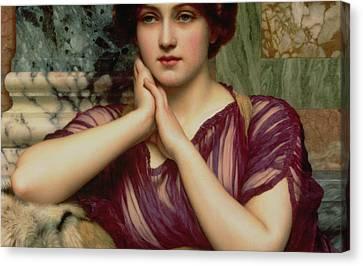 A Classical Beauty Canvas Print by John William Godward