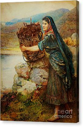 A Connemara Girl Canvas Print by Celestial Images