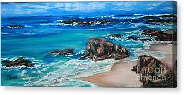 A Distant Shore Canvas Print by Cathy Weaver