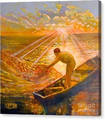 A Fisher Of Men Canvas Print by Kip Decker
