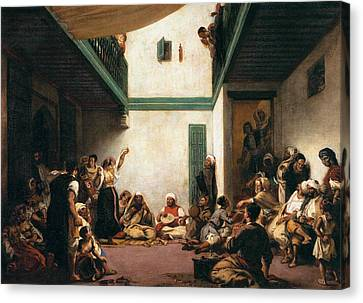 A Jewish Wedding In Morocco Canvas Print by Eugene Delacroix
