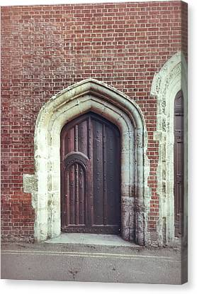 A Medieval Door Canvas Print by Tom Gowanlock