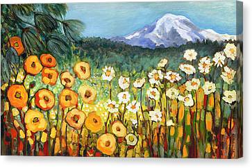A Mountain View Canvas Print by Jennifer Lommers