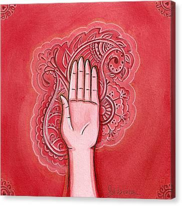 Abhaya Mudra Canvas Print by Sabina Espinet