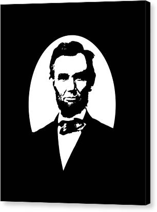 Abraham Lincoln Canvas Print by War Is Hell Store
