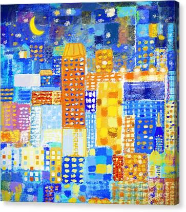 Abstract City Canvas Print by Setsiri Silapasuwanchai
