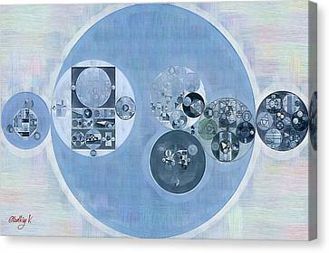 Abstract Painting - Dark Pastel Blue Canvas Print by Vitaliy Gladkiy