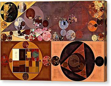 Abstract Painting - Peanut Canvas Print by Vitaliy Gladkiy